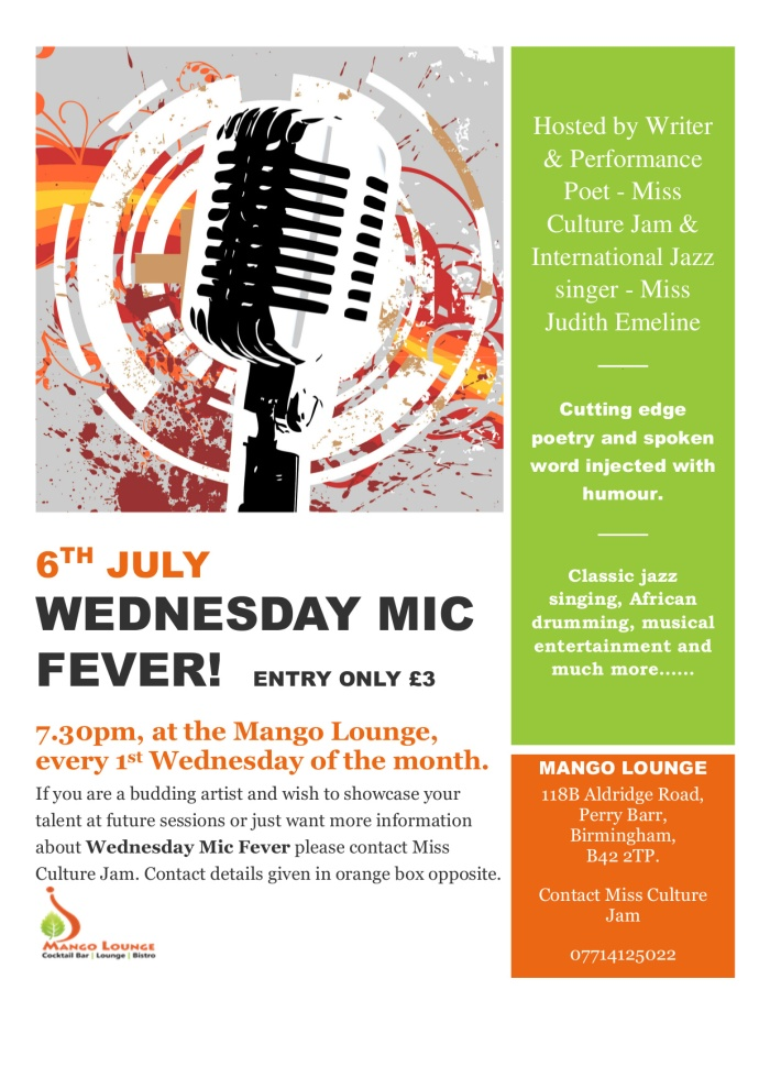 New Poster for July Mic Fever